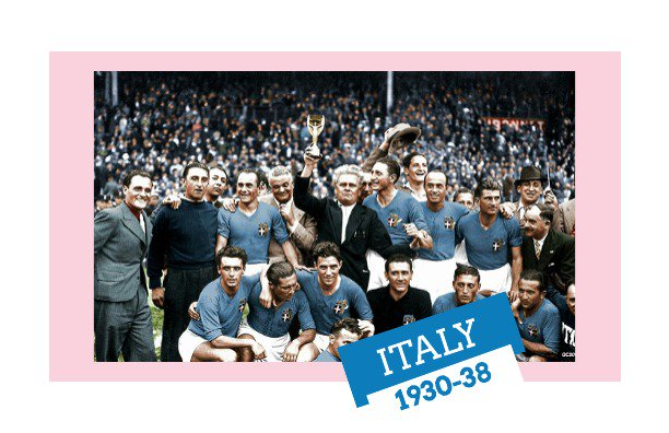 The prestige of a Benito Mussolini inspired Italian national team in the 1930s